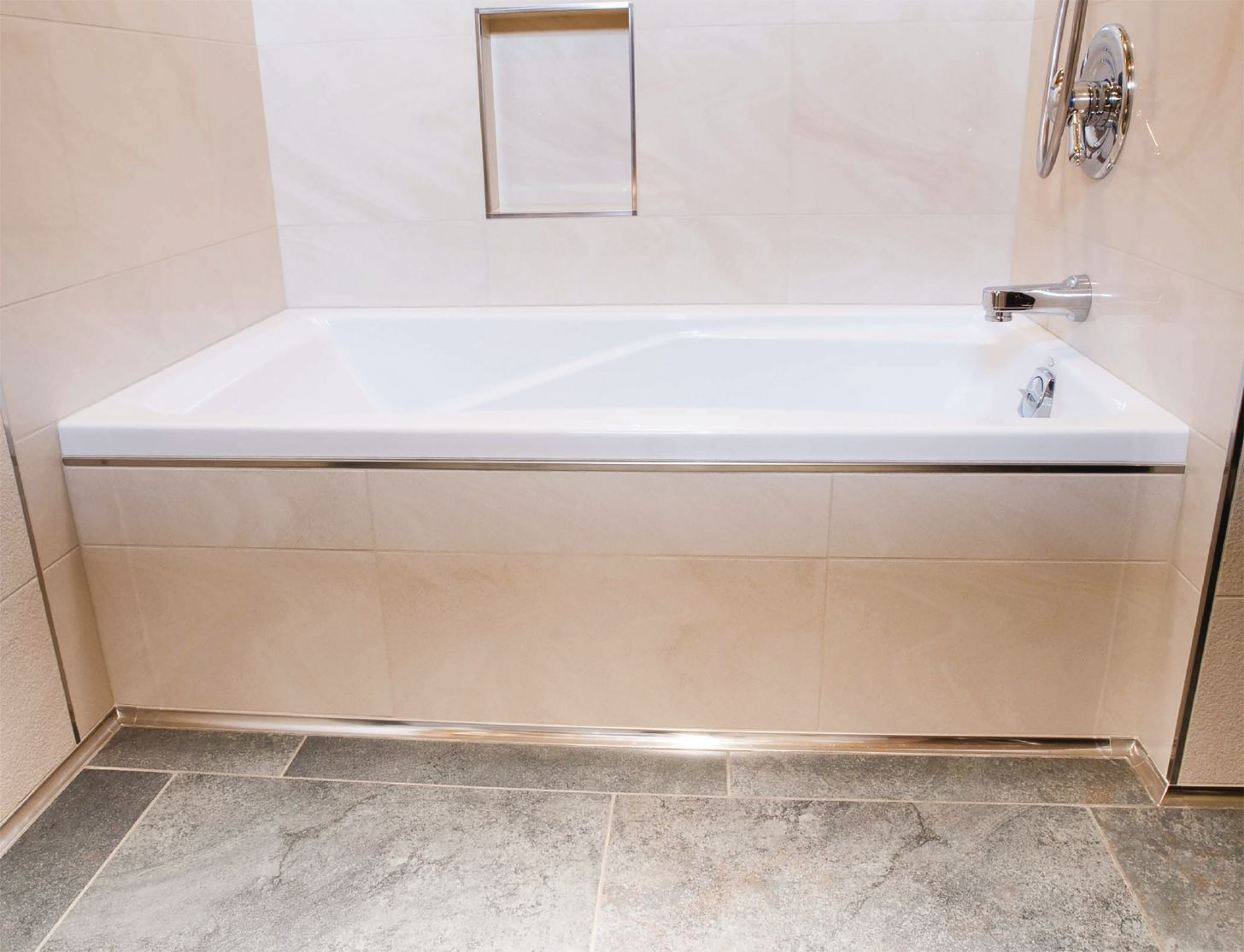 Applied To The Tile Edges Of The Bathtub Skirting And Wall Tile