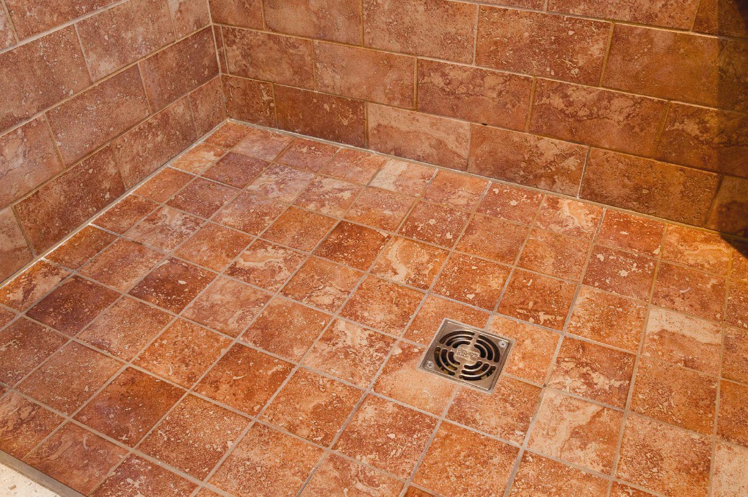 Tile floor shower
