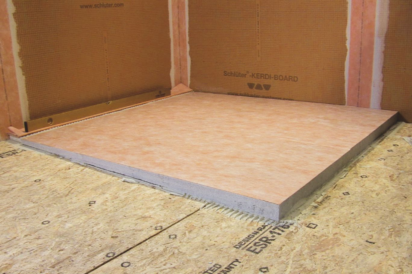 Schluter 174 Kerdi Shower L Ls Prefabricated Substrates
