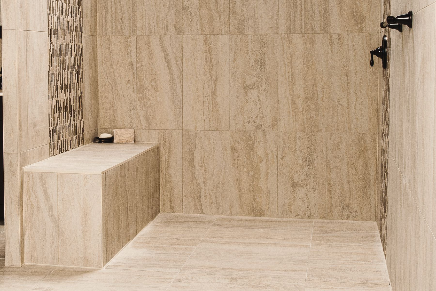 Shower with point drain | schluter.ca
