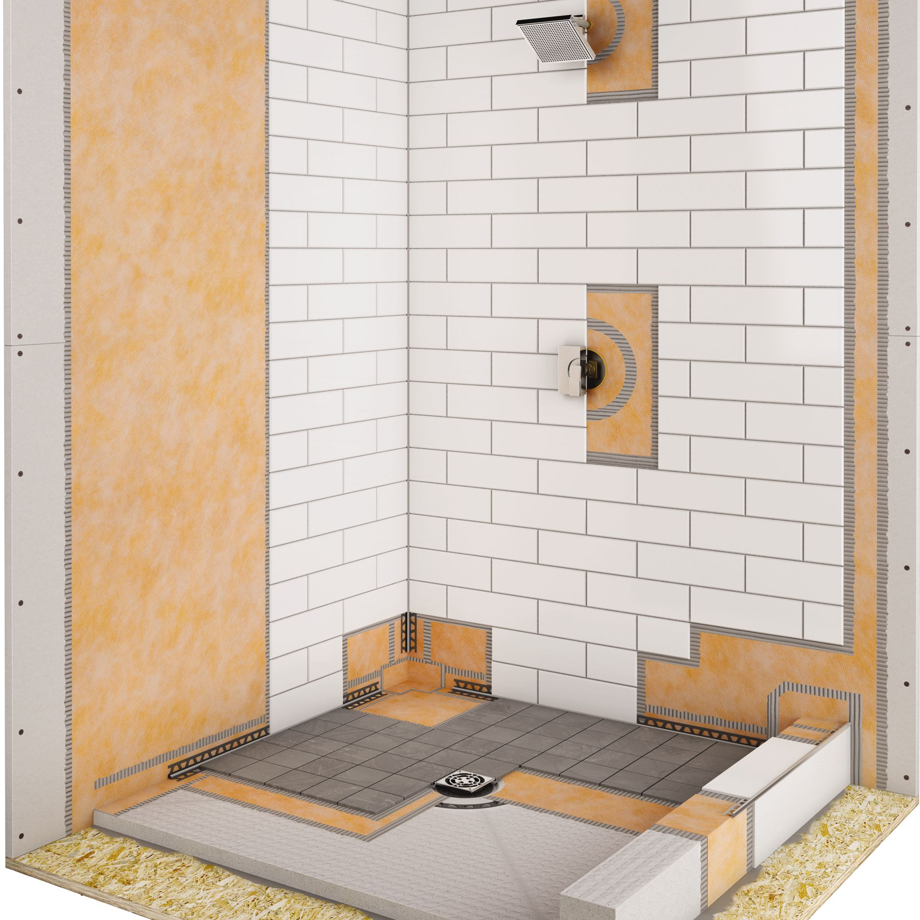 Schluter Shower Base Install