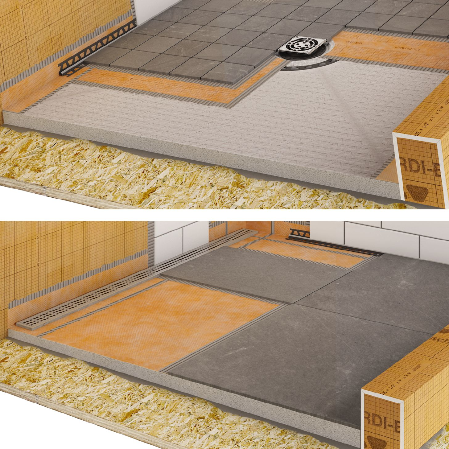 schluter shower trays