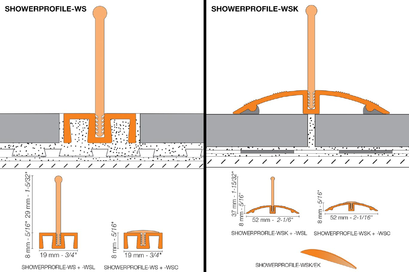 Schluter®-SHOWERPROFILE-WS/-WSK
