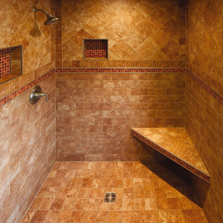 Burnt Sienna Schluterca - Orange mold in bathroom