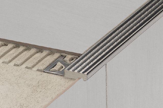 Schluter  TREP E/ EK. Stainless Steel Stair Nosing ...