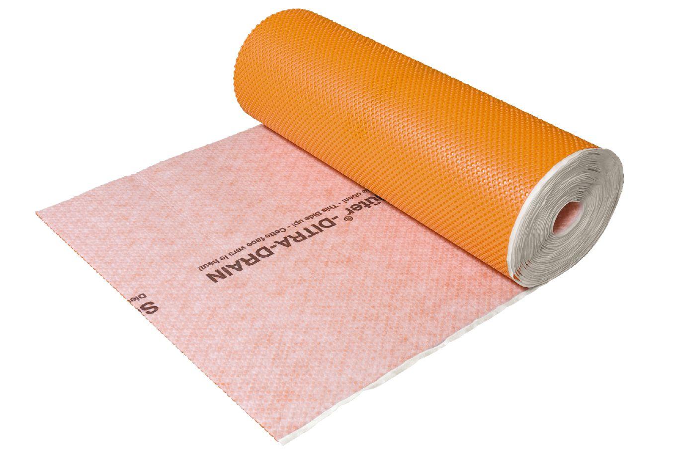 Ditra Waterproof Membrane : Schluter ditra drain stu drainage troba membranes