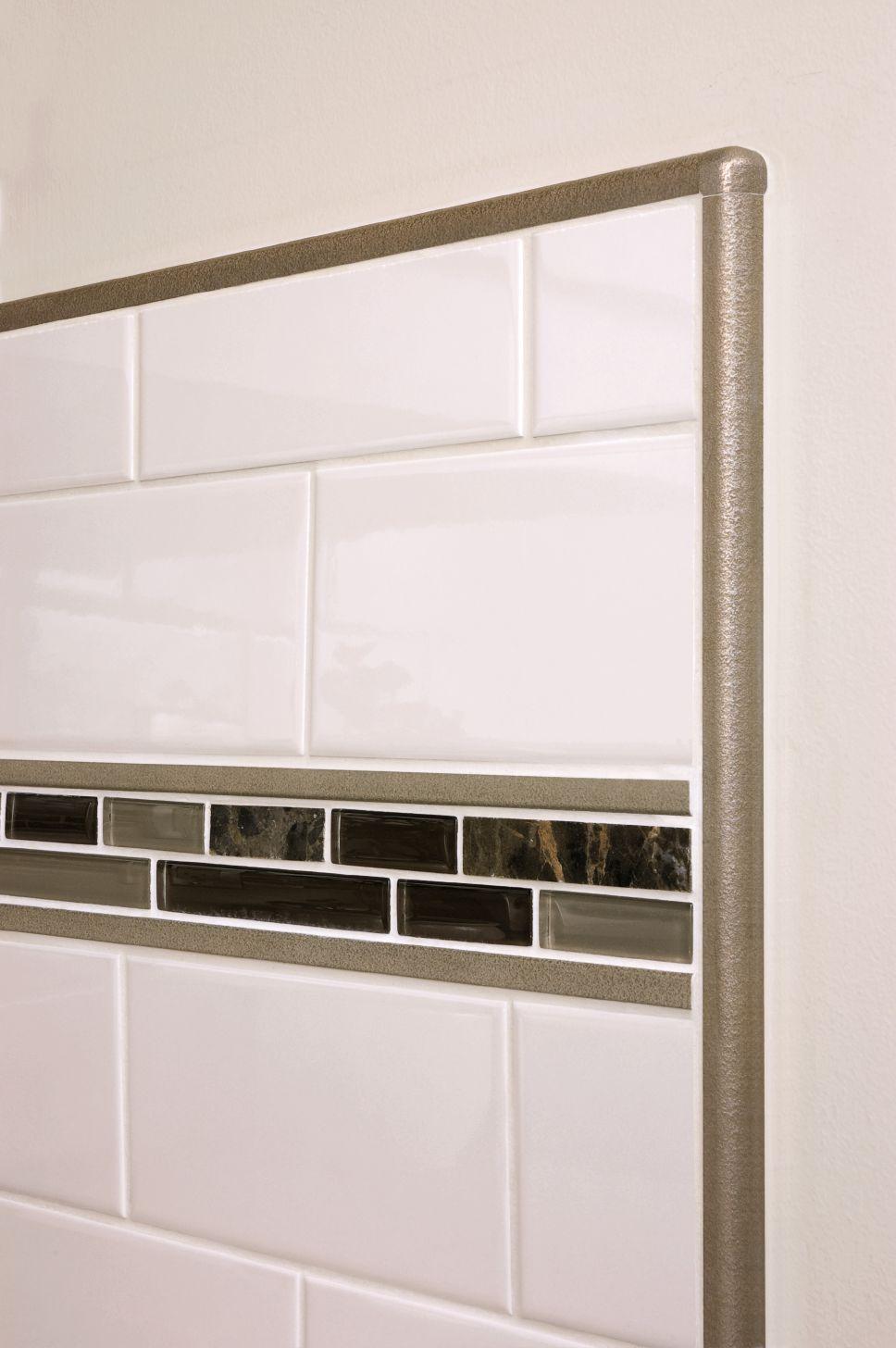 Kitchen Backsplash Aluminum Tile Edge Trim
