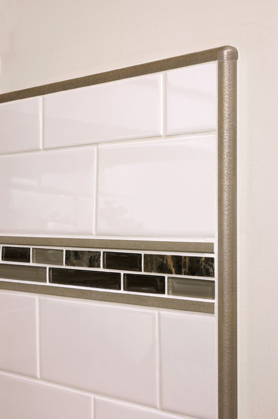 Genial RONDEC Bullnose Profile Used To Finish The Tile Edges Of The Backsplash.