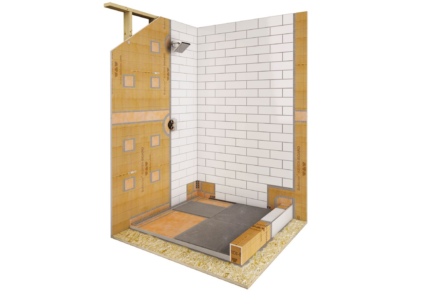 Shower With Linear Drain Schlutercom