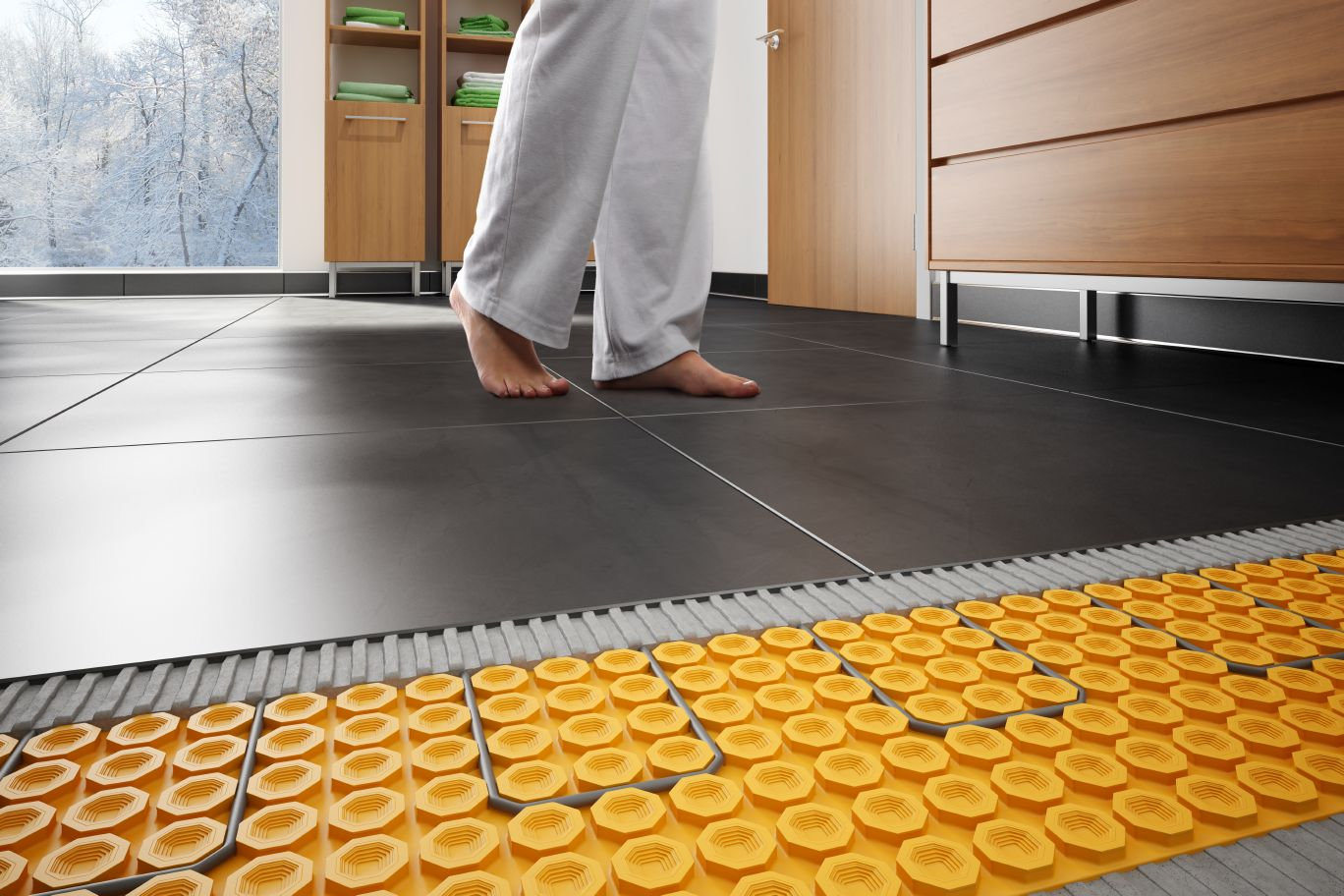 Schluter ditra heat floor warming for Pose carrelage plancher chauffant