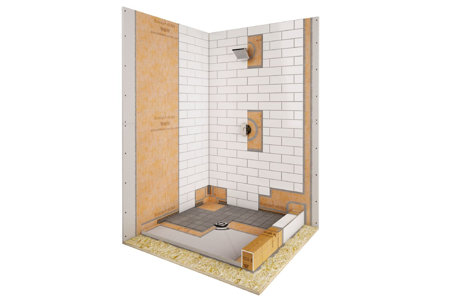 Shower with point drain | schluter.com