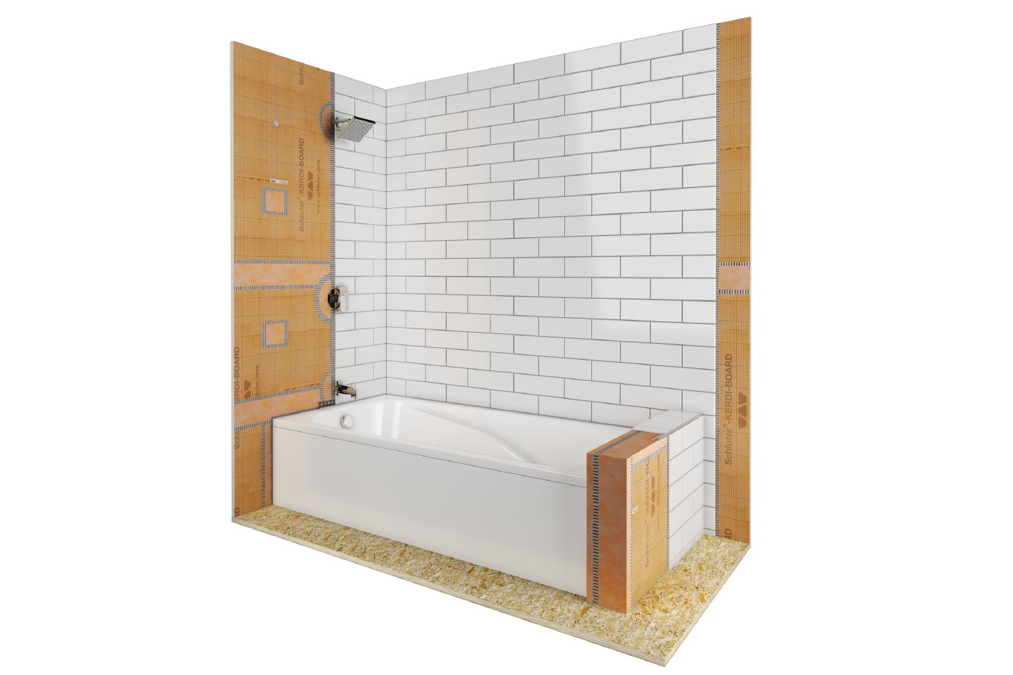 shower with bathtub schluter com
