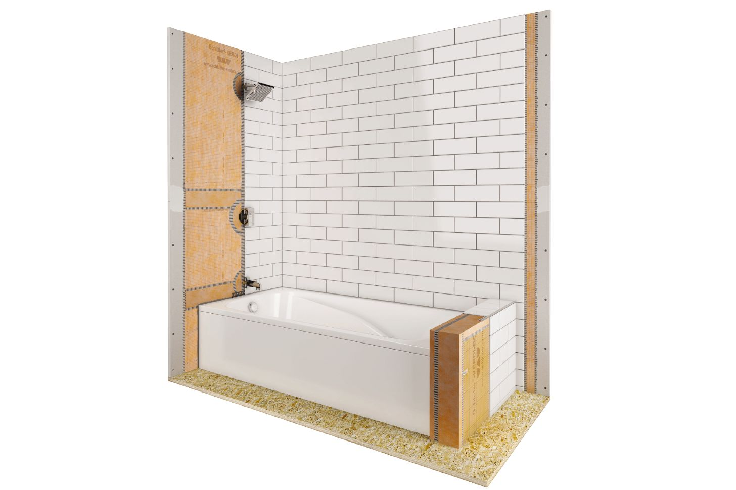 shower with bathtub schluter com waterproofing for the shower with bathtub