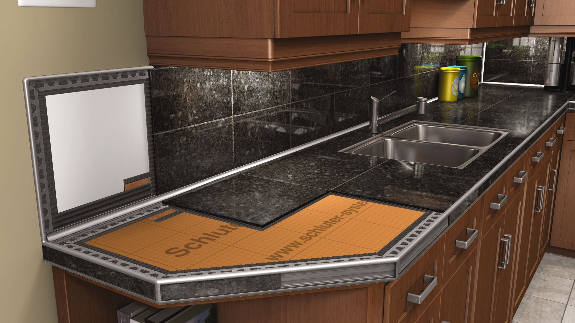 Kitchen Countertop Tiles Countertops Schlutercom