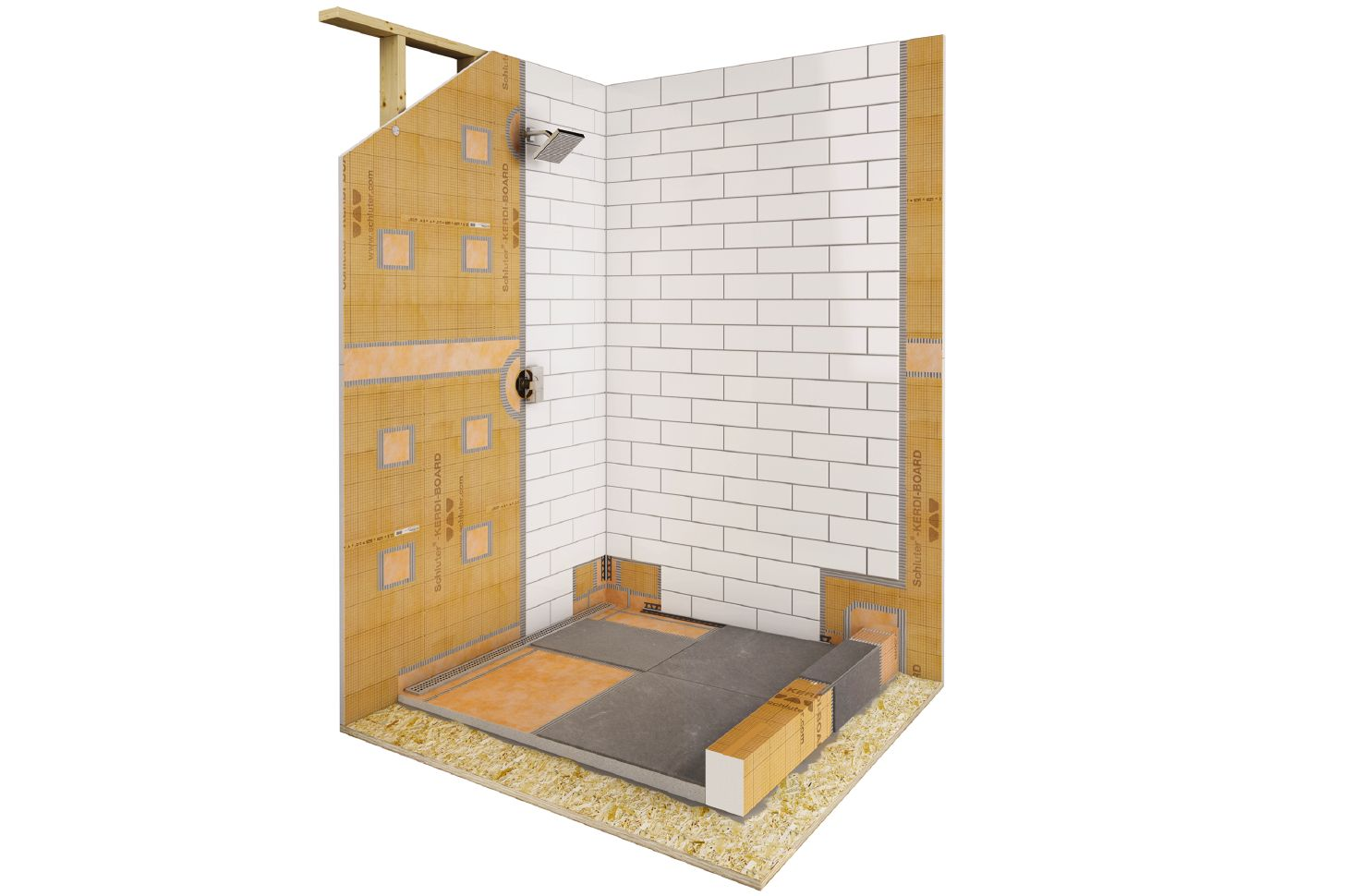 Kerdi Shower Pan Linear Drain.Shower With Linear Drain Schluter Com