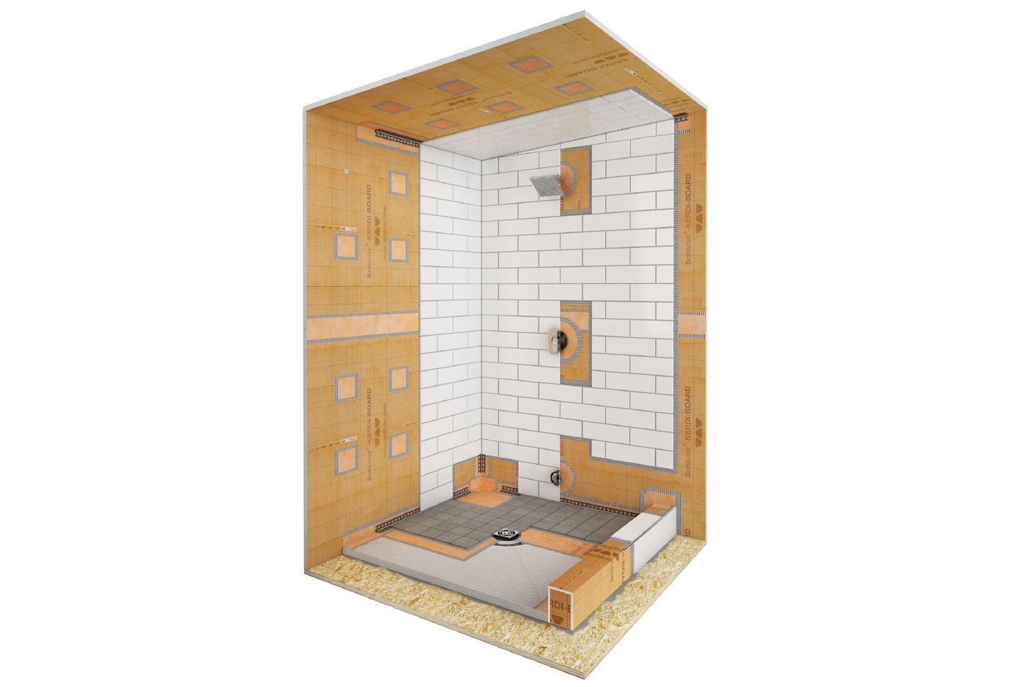 Exceptional Here Are Two Waterproofing Options That Are Ideal For Your Residential  Steam Shower: KERDI BOARD And KERDI U2013 Both Provide Waterproofing As Well As  Being ...