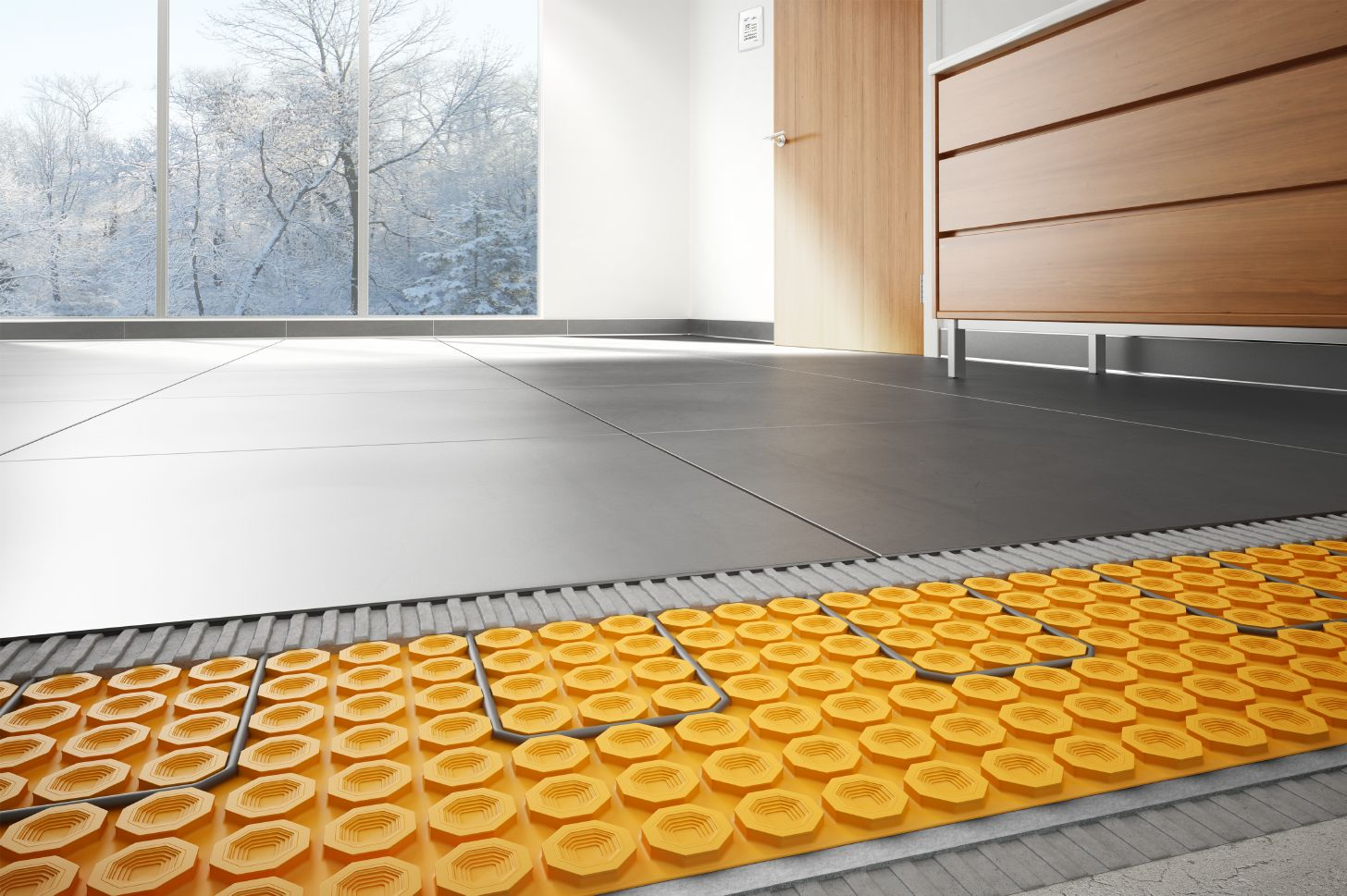 Heated floors for How to heat a bathroom